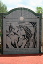 Devotion two lovers point guam sign from monument usa celebrates the story of who forbidden from being Stock Photo
