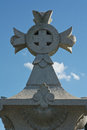 Devotional cross in germany as symbol of christian faith a german cemetery Stock Photography