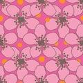 Dewberry Dream- Flowers in Bloom, Seamless Repeat Pattern