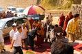Dharamsala Dalai Lama Surrounded Entourage Royalty Free Stock Photos