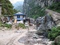 Dharapani village in Nepal Royalty Free Stock Photo