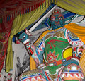 Dharmapala protector of dharma buddhist temple in beijing china is a type wrathful deity the name means Stock Photo