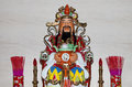 Dharmapala protector of dharma buddhist temple in beijing china is a type wrathful deity the name means Royalty Free Stock Photo