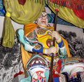Dharmapala protector of dharma buddhist temple in beijing china is a type wrathful deity the name means Stock Image