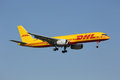 Dhl boeing pf lisbon portugal july a with the registration d alej on approach to lisbon airport lis in portugal is europe s Royalty Free Stock Photos