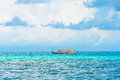 Dhoni boat in the ocean Stock Photography