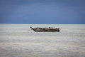 Dhow boat in the sea Royalty Free Stock Image