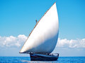 Dhow of tanzania found on the shores indian ocean in Stock Image