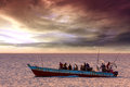 Dhow traditional fishing vessel Royalty Free Stock Photo