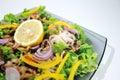 Diät-Salat mit essbaren Meerestieren Stockfotos