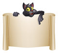 Dia das bruxas cat banner Fotografia de Stock