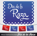 Dia de la raza columbus day spanish of the race text latin decoration eps available Stock Image