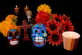 Dia De Los Muertos (Day of the Dead) Alter Stock Image