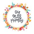 Dia de los muertos, Day of the dead, Mexican holiday banner, card Royalty Free Stock Photo