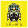 Dia De Los Muertos. Greeting card with sugar skull penguin Royalty Free Stock Photo