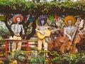 Dia De Los Muertos Musician Statues Royalty Free Stock Photo