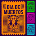 Dia de muertos mexican day of the death set spanish text decoration Royalty Free Stock Photos