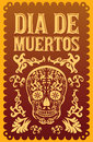 Dia de muertos mexican day of the death spanish text vector decoration lettering Royalty Free Stock Photo