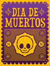 Dia de muertos mexican day of the death spanish text vector decoration lettering Royalty Free Stock Photography
