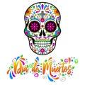 Dia de muertos, Mexican Sugar skulls, Day of the dead Halloween vector illustration