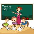 image photo : Classroom Testing Day