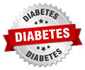 Diabetes 3d silver badge
