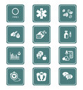 Diabetes icons teal series health care life icon set Royalty Free Stock Images