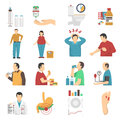 Diabetes Symptoms Icons Set