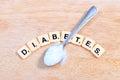 Image : Diabetes word lifestyle