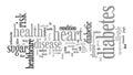 Diabetes Word Tag Cloud Illustration