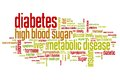 Diabetes words illness concepts word cloud illustration word collage concept Royalty Free Stock Images