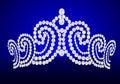 Diadem feminine wedding on turn blue background Royalty Free Stock Photos