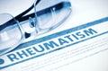 Diagnosis - Rheumatism. Medicine Concept. 3D Illustration.