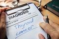 Diagnosis thyroid cancer.