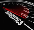 Diagnostics Speedometer Mechanic Fix Repair Car Automobile Stock Photography