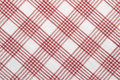 Diagonal checked cotton fabric Royalty Free Stock Image