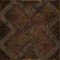 Diagonal cross manhole cover (Seamless texture) Royalty Free Stock Photos
