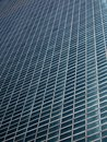 Diagonal facade pattern Stock Photography