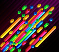 Diagonal multicolor bars Stock Images