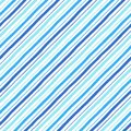 Diagonal parallel doodle style blue stripes seamless pattern
