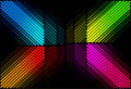 Diagonal retro color bars Royalty Free Stock Photography