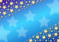 Diagonal stars on blue gradient Stock Image