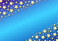 Diagonal stars on blue gradient Stock Images
