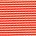 Diagonal striped red white pattern. Abstract repeat straight lines texture background. Royalty Free Stock Photo