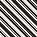 Diagonal stripes seamless pattern. Vector thin and thick slanted lines. Royalty Free Stock Photo