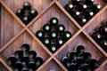 Diagonal Wine Rack Stock Photography