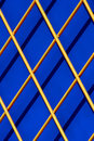 Diagonal wooden lattice Stock Photo