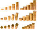 Diagram from coin column Royalty Free Stock Photo