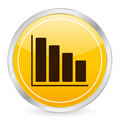 Diagram yellow circle icon Stock Photo