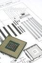 Diagrama e processador central Fotos de Stock